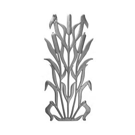 """27"""" Tall Cast Iron Panel, Cattail Style, Double Faced"""