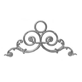 """10-1/2"""" Tall Cast Iron Gate Crown, Pontalba Style, Double Faced"""