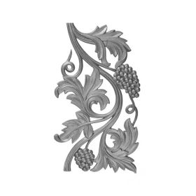 """14-3/4"""" Tall Cast Iron Panel, Vineyard Style, Double Faced"""