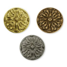 "Bronze Acanthus Style Rosettes, 4-1/2"" Outside Diameter"