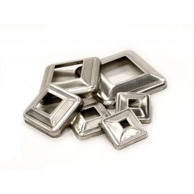 Aluminum Cover Plates for Square Bar, non-weldable