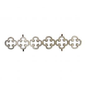 """27-1/4"""" Wide Aluminum Infill Casting with Quatrefoil Pattern"""
