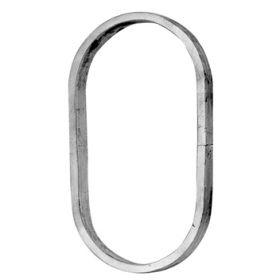 """9/16"""" sq. Aluminum Oval Ring, 7-1/2"""" Tall"""