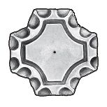 """2-1/2"""" sq. Steel Base Plate, 1/4"""" Thick"""