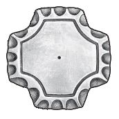 """3"""" sq. Steel Base Plate, 1/4"""" Thick"""