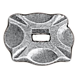 """Base Collars in Steel with 2-1/8"""" sq. base"""