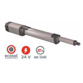 KUSTOS Electromechanical Operator, Single Kit w/ Battery Backup for Swing Gates up to 550lbs, leaf 16FT