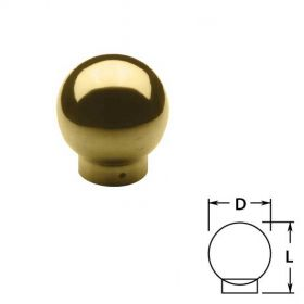 Ball Single Outlets in Brass
