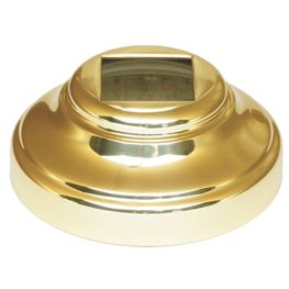 """Base Collars in Brass for Round Bar with 2-1/16"""" sq. base"""