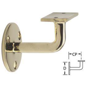 Flat Brass Handrail Bracket