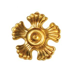 """2-3/4"""" dia. Scalloped Brass Rosette with 5 Petals"""
