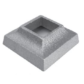 "Base Shoe for 1"" sq., Cast Aluminum, 1"" Tall"