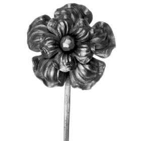 """Cast Steel Flower with Stem, 11-7/16"""" Tall"""