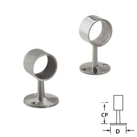 Flush Center Posts in Stainless Steel