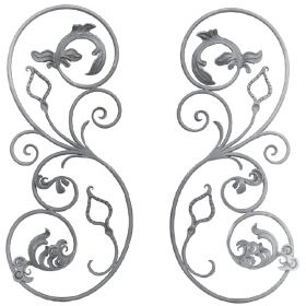"""1/2"""" dia. Left and Right Forged Steel Scroll Panels"""