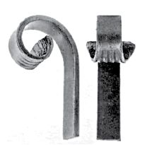 Steel Gate Frame Ends in Plain Flat Bar with Fish Tail Ends
