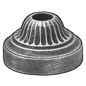 "Base Shoe for 5/8"" dia., Cast Iron, 2-3/8"" dia. Base, Zinc Plated"