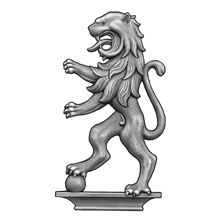 """12-1/2"""" Tall Steel Casting, Lion Design, Double Faced"""