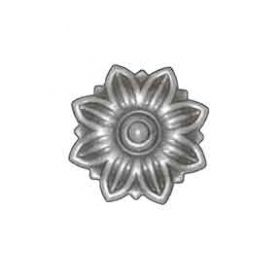 "2-3/16"" dia. Steel Flower Rosette, 5/64"" Thick, Single Faced"