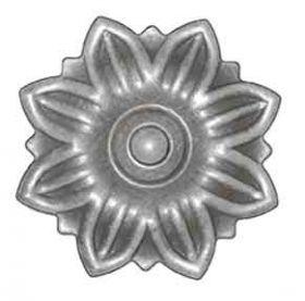"3-1/2"" dia. Steel Flower Rosette, 5/64"" Thick, Single Faced"