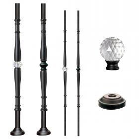 Grande Forge Black Diamond Series Posts & Balusters w/Round Base