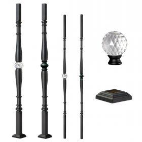 Grande Forge Black Diamond Series Posts & Balusters w/Square Base