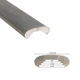 "2-1/8"" Wide Aluminum Handrail Molding, 20FT"