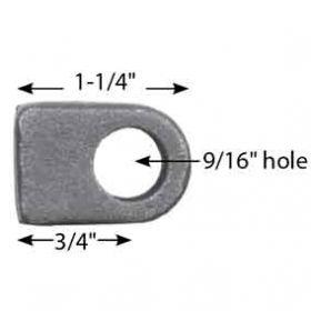 "Steel Hinge Block with 9/16"" Hole, 1-1/4"" Long"