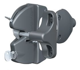 Lokk-Latch Key-Lockable General Purpose Latch w/External Access Kit, Black