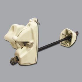 Lokk-Latch Deluxe Security Gate Lock w/External Access Kit, White