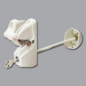Lokk-Latch Deluxe Security Latch, Keyed Alike, w/External Access Kit, White