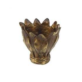 """Candle Cup/Bobeche, Cast Bronze, 2-1/2"""" Tall, Threaded 1/8IP"""