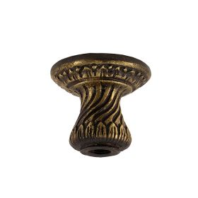 """Candle Cup/Bobeche, Cast Bronze, 1-1/2"""" Tall, Threaded 1/8IP"""