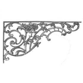 "12"" Tall Cast Iron Bracket, Bird of Paradise Style, Double Faced"