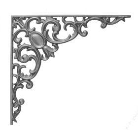 "15-1/2"" Tall Cast Iron Bracket, Pontalba Style, Double Faced"
