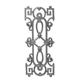 """28-1/2"""" Tall Cast Iron Panel, Traditional Style, Single Faced"""