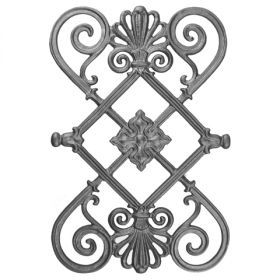 """20-1/4"""" Tall Cast Iron Panel, Contemporary Style, Double Faced"""