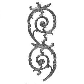 "19-1/2"" Tall Cast Iron Panel, Pontalba Style, Double Faced"