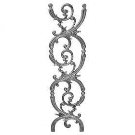 "28"" Tall Cast Iron Panel, Pontalba Style, Double Faced"