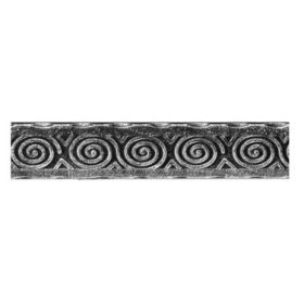 Patterned Flat Bar, End Scroll, Sweep and Corner Bend with Egyptian Design