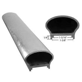 "2-9/16"" wide Rounded Tubular Aluminum Handrail Molding, 20FT Long"