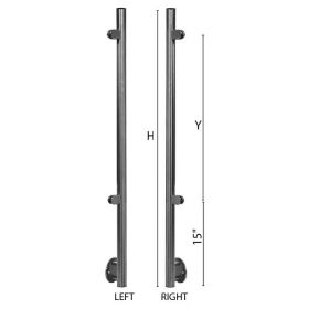 """Stainless Steel Fascia Mounted Left and Right End Newel Posts with Glass Clamps for use with 1-2/3"""" diameter x 5/64"""" Tubing"""