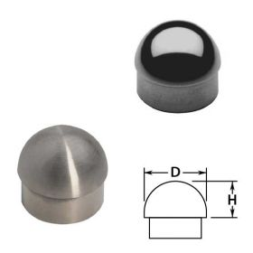 Half Ball End Caps in Stainless Steel