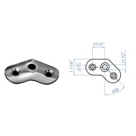 Stainless Steel 45 degree Mounting Plates