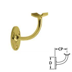 Handrail Brackets in Brass for Round Tubing