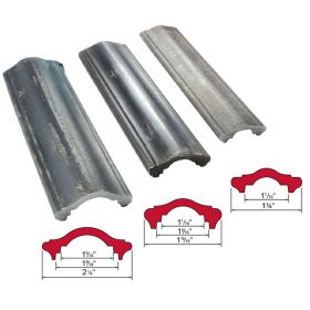 """Hot Rolled Steel Handrail Moldings in 1-3/4"""", 1-15/16"""" and 2-1/4"""" wide"""