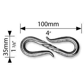 "4"" Long Steel Link of Chain, 1-3/8"" Wide"