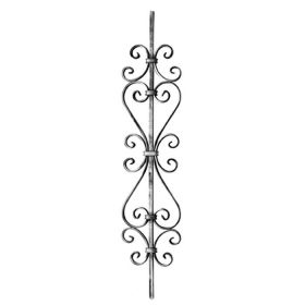 """1/2"""" sq. Forged Steel Panel with Various Scrolls, 35-7/16"""" Tall"""