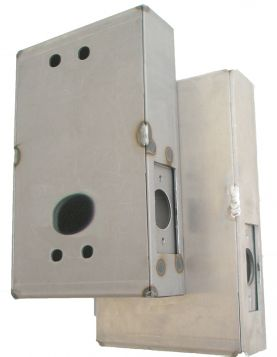 Gate Box, Aluminum, for 1150 Door Lock, Weld or Bolt On