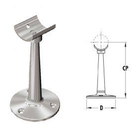 Tall Saddle Posts in 316 Satin Stainless Steel